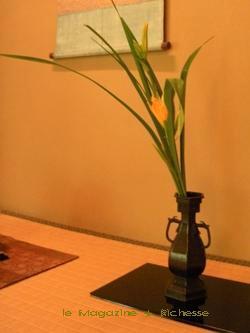 茶寮 宝泉 床の間・花