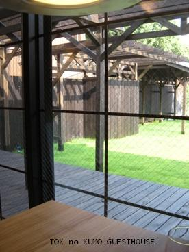 季の雲ゲストハウス庭