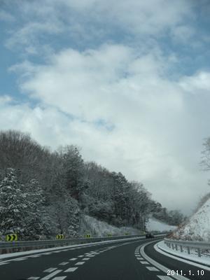 le10janvier2011_新名神雪景色