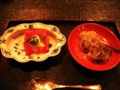 2011小久保_お昼会席 08水菓子、蕨もち