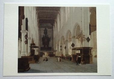 Post Card:シュテーデル美術館蔵 ヘンドリク・ファン・フリート(デルフトの旧協会の内部)1660-63年頃 油彩・板(オーク材)
