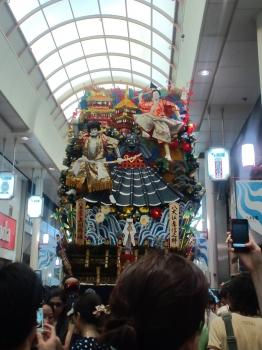 上川端通、飾り山