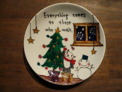 クリスマス小皿