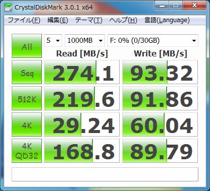DiskMark mSATA SSD