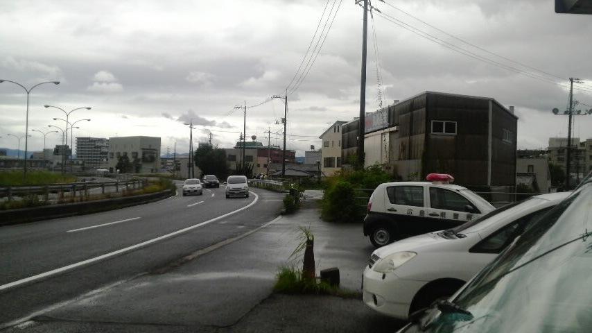 台風が来ている
