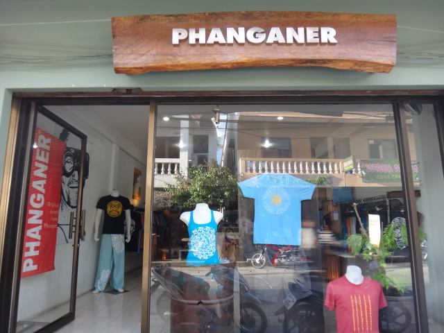 パンガン島のTシャツ店Phanganer