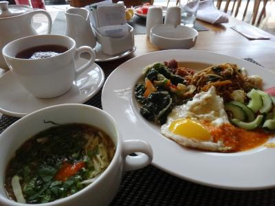 ホテルの朝食バリ島Centra