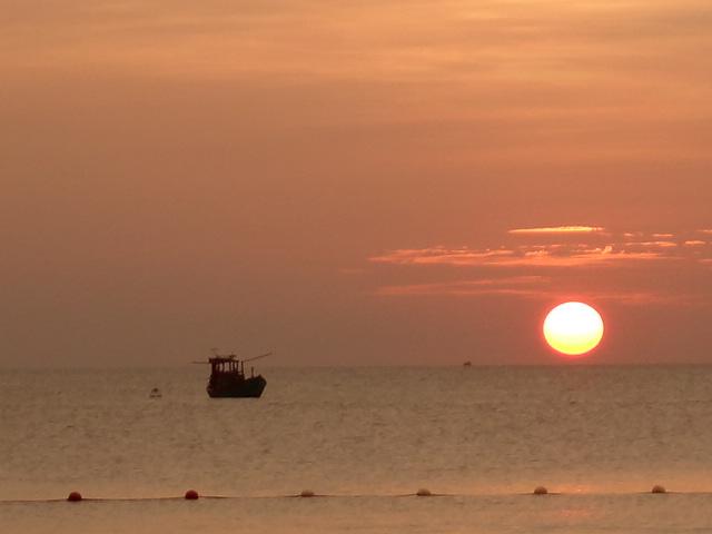 フーコック島夕日