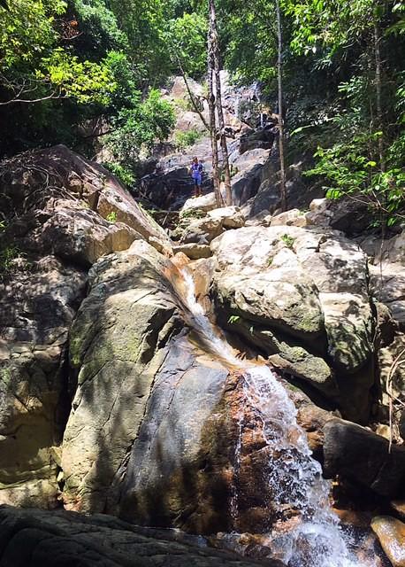 サムイ島メナムシークレットフォール滝