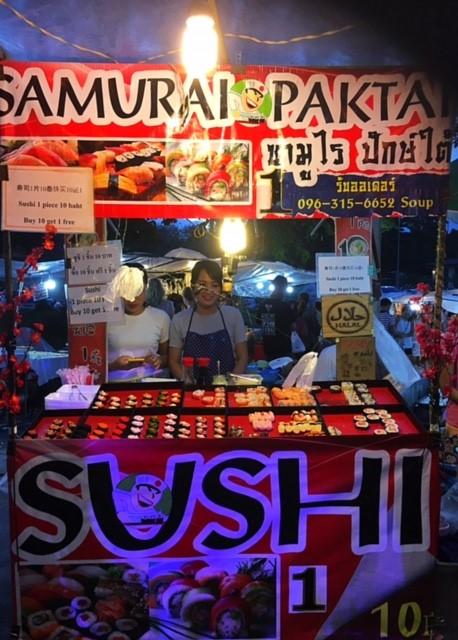 サムイ島ナイトマーケット寿司