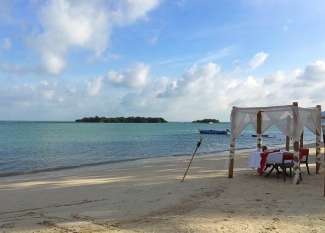 サムイ島チャウエンビーチ北2017年12月