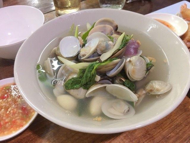 タイハマグリのスープサムイ島ラノーン