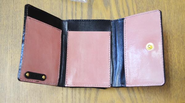オーダー:革三つ折り財布