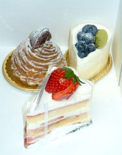 今日のおやつ、地元のケーキ