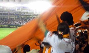 巨人軍ガンバレの旗
