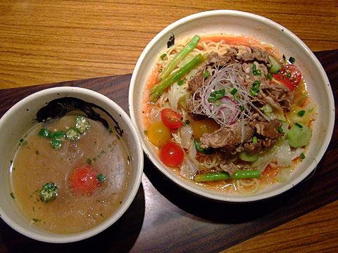 麺屋武蔵 虎洞 期間限定 牛と赤茄子の冷やし塩つけ麺