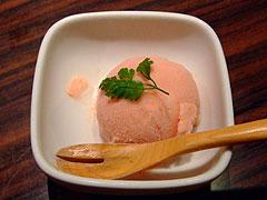 麺屋武蔵 虎洞 トマトのアイスクリーム