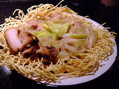 金めじ あんかけ揚げ麺