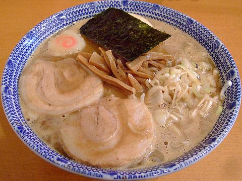 とみ田 味玉そば(中)