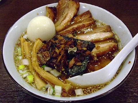 めじろ 川崎 塩煮干しちゃ〜しゅう麺+味玉