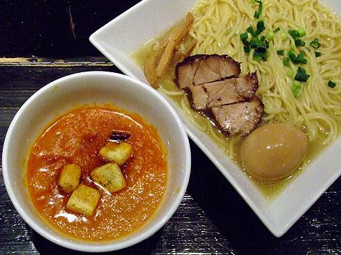 麺者服部 野菜ブロードのスープつけ麺+香り味玉