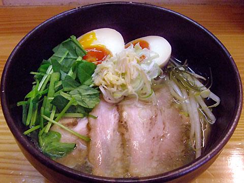 旬麺しろ八 塩しろ八麺+ほうれん草