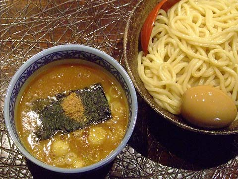 三田製麺所 つけ麺(中)+半熟玉子