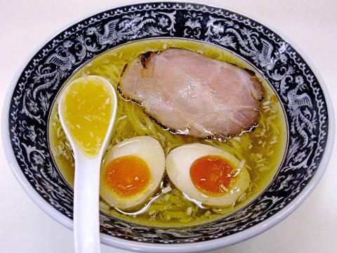 中村屋@西武池袋催事 かけそば(塩)+味付け卵+炙りチャーシュー