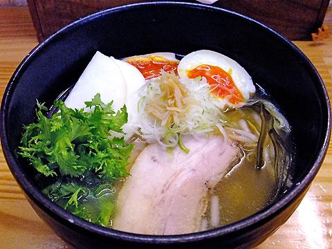 旬麺しろ八 塩しろ八麺+ピーチカブ、わさび菜