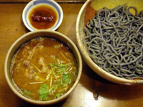 むろや カレーつけめん+辛味油 竹炭麺ver.