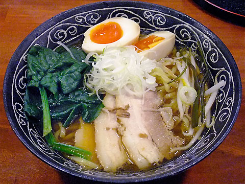 旬麺しろ八 しろ八麺+ちぢみほうれん草