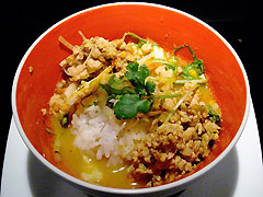 冬蔭激城麺 赤 ライス