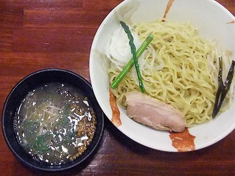 旬麺しろ八 梅塩つけ麺+アスパラガス&甘いタマネギ