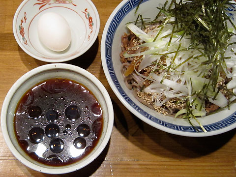馳走麺 狸穴 肉盛つけ麺