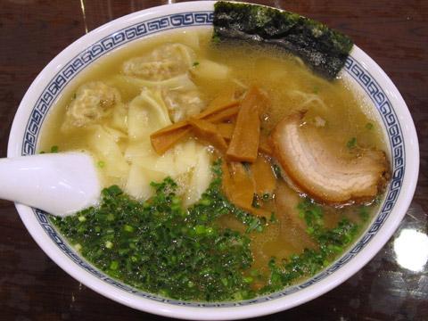 徒歩徒歩亭 雲呑麺(塩味)