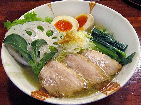 旬麺しろ八 塩しろ八麺+わさび菜 旬菜増量