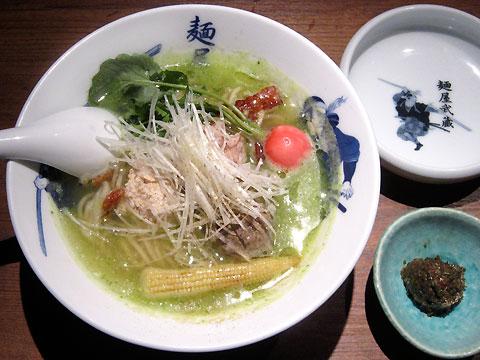 麺屋武蔵 春キャベツの擂り流しそば(春菜味噌添え)