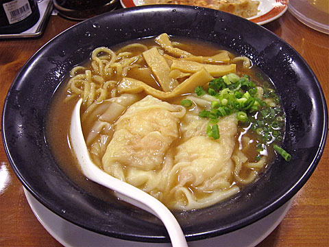 広州市場 鶏白湯海老雲呑麺
