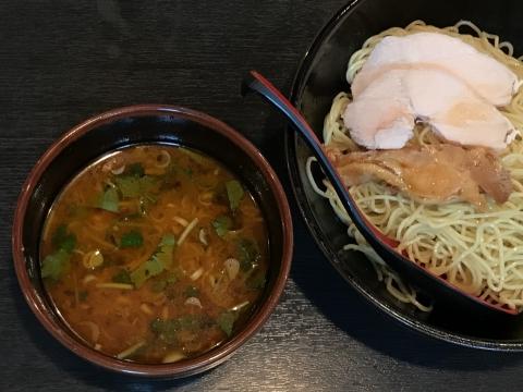 菜香@上野 スパイシーエビつけ麺