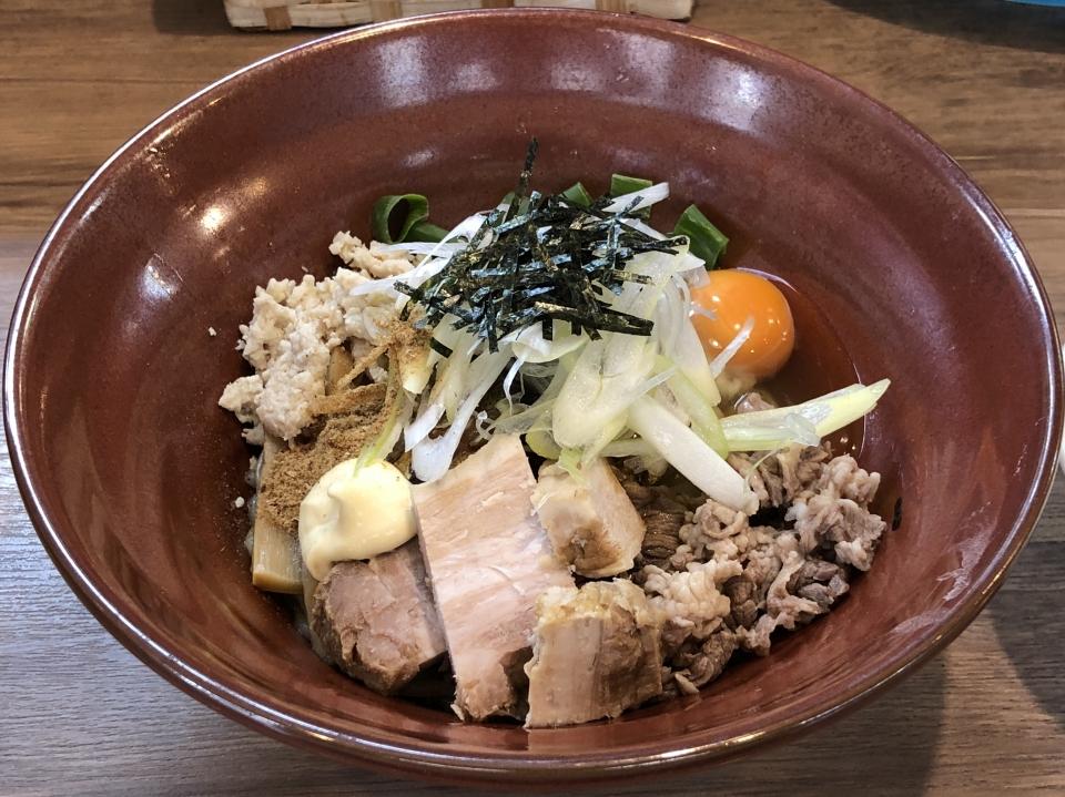 麺家Shumen Doushi@南与野 秋刀魚まぜSOBA