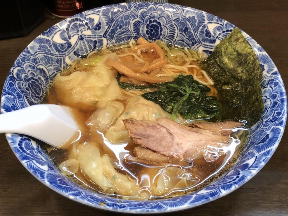 ら麺亭@浅草 肉厚ワンタン麺