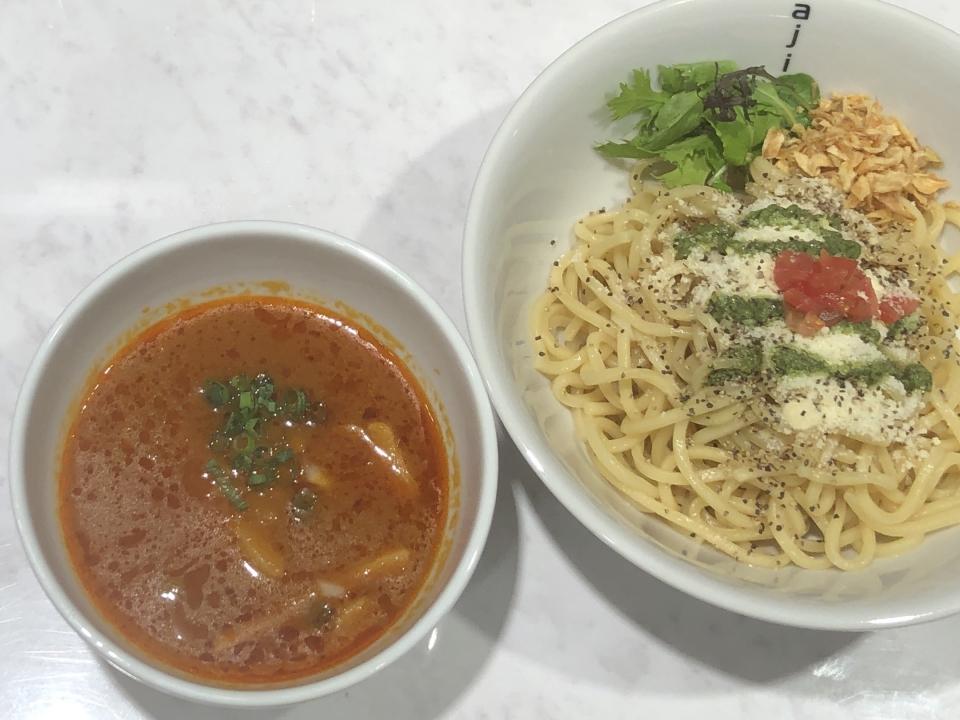 ajito ism shinjuku base@西新宿 つけ麺 ロッソ