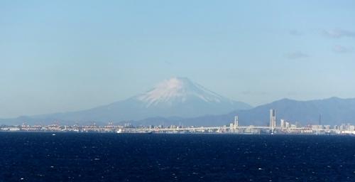 東京湾から富士