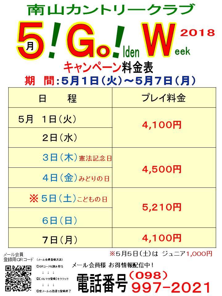 平成30年GW