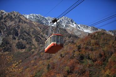 立山の紅葉とロープウェイ