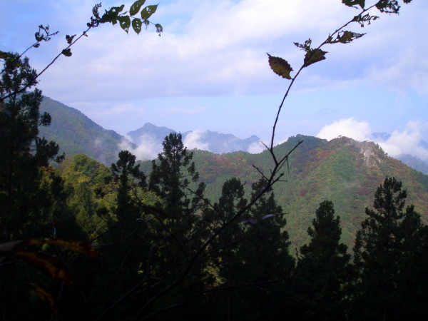 中里付近の山々