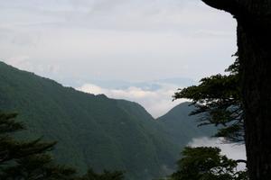 長沢背稜から行きの尾根を望む 06-18-2007