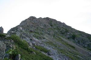 塩見岳への岩場