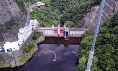 竜神大吊橋 ダム湖