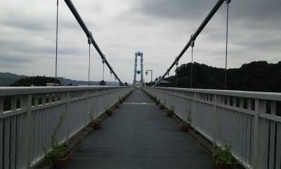 竜神大吊橋 入口方向を撮影